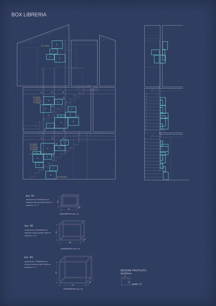 Box wireframe in ferro da agganciare ai montanti